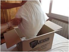 emballage et déballage de linge lors d'un déménagement