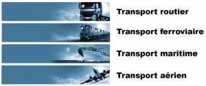 transport international routier, ferroviaire, maritime et aérien